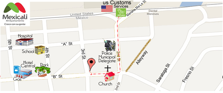 map Smile Specialist  in Algodones
