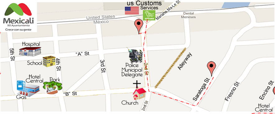map Torres Dental Family in Algodones