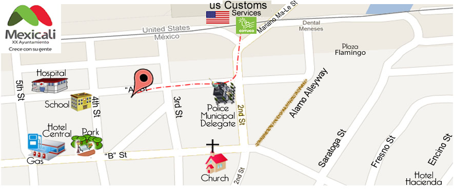 map APOLONIA DENTAL-DR. ARMANDO SALAZAR L. DDS in Algodones