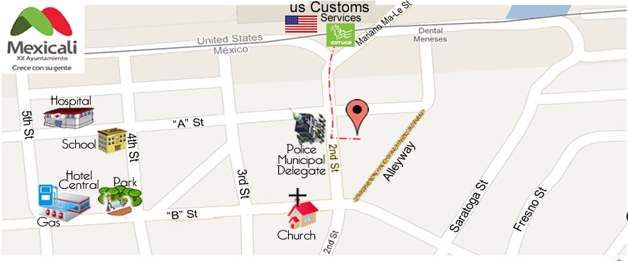 map RODEO DRIVE  in Algodones