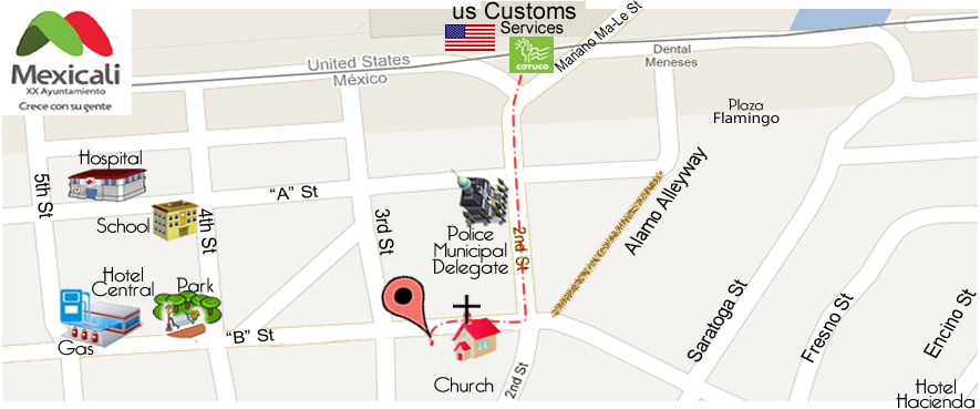 map GARCIA DENTAL CARE Fernanda García Blas DDS in Algodones