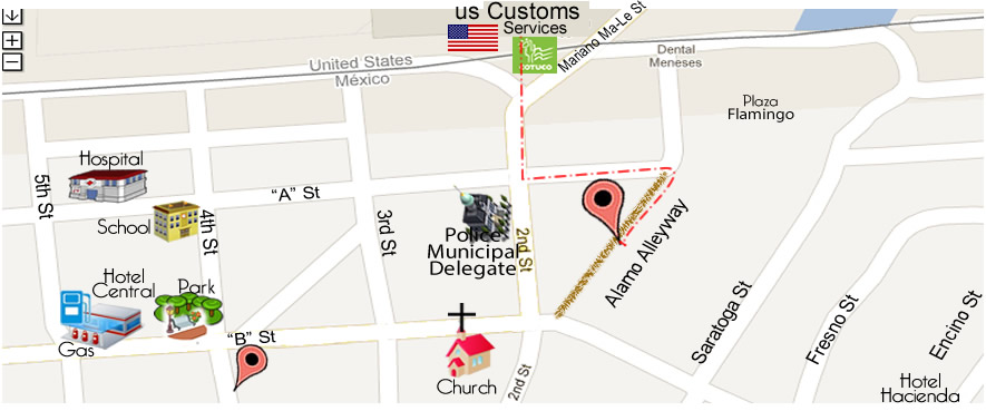 map Marquez Dental Office - DDS Alejandro Márquez in Algodones