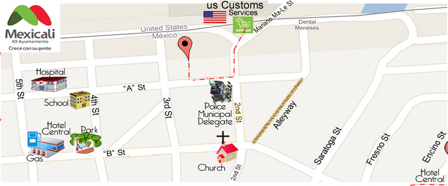 map RANCHERITO DENTAL in Algodones