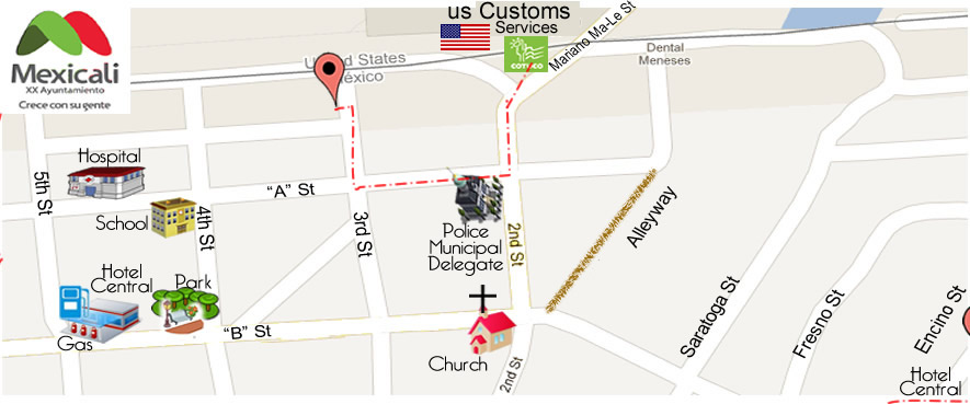 map GRACE DENTAL STUDIO & CO. DDS. Diego Marquez R.  in Algodones