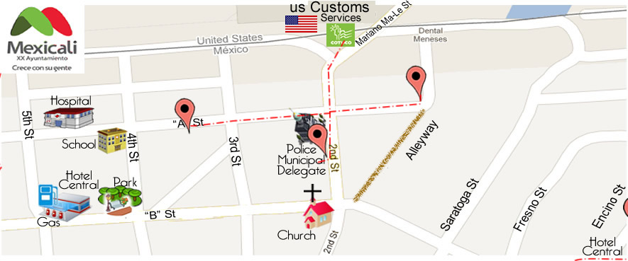 map Professional OPTICAL  in Algodones