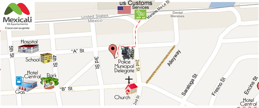 map M & M Optical in Algodones