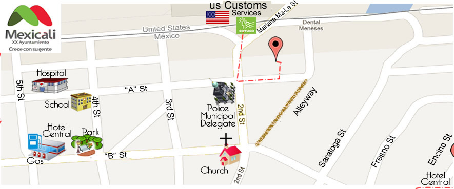 map Aloha Dental Implants & Orthodontics  Dr. Manuel de Santiago DDS in Algodones